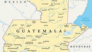 carte du Guatemala