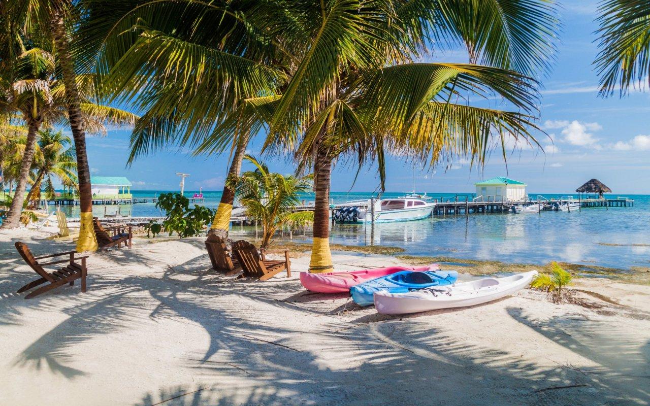Village de pêcheurs au Belize